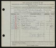 Entry card for Reidenbaugh, Frances for the 1937 May Show.