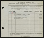 Entry card for Richardson, Bill for the 1937 May Show.