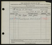 Entry card for Sherman, Myron A. for the 1937 May Show.