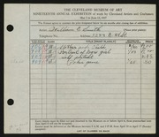 Entry card for Smith, William E. for the 1937 May Show.