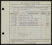 Entry card for Young, Don J., Jr. for the 1937 May Show.