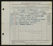 Entry card for Adomeit, George G., and Caxton Company for the 1938 May Show.