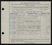 Entry card for Andrews, Mary Adelaide Fulton for the 1938 May Show.