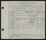Entry card for Bates, Kenneth F. for the 1938 May Show.