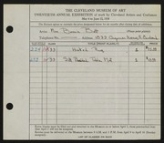 Entry card for Batt, Bessie for the 1938 May Show.