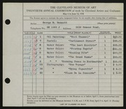Entry card for Bennett, George Edward for the 1938 May Show.
