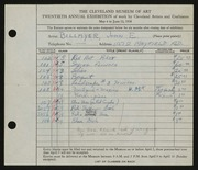 Entry card for Billmyer, John E. for the 1938 May Show.