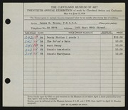 Entry card for Brown, Zenas H. for the 1938 May Show.