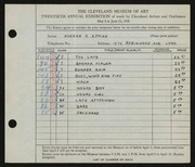 Entry card for Eppink, Norman Roland for the 1938 May Show.