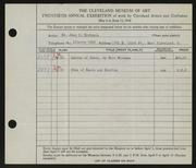 Entry card for Eschmann, Jean C. for the 1938 May Show.