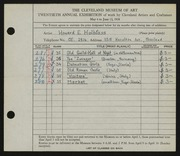 Entry card for Halbfass, Howard E. for the 1938 May Show.