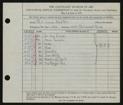 Entry card for Hexter, Paul Louis for the 1938 May Show.