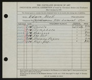 Entry card for Krall, Edwin for the 1938 May Show.