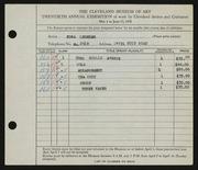 Entry card for Lederer, Edna T. for the 1938 May Show.