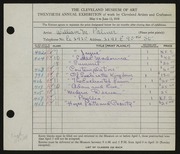 Entry card for Palmer, William Maxton, Jr. for the 1938 May Show.