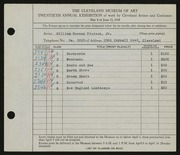 Entry card for Pierson, William H. (William Harvey) for the 1938 May Show.