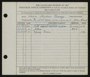 Entry card for Ranney, Helen Stecher for the 1938 May Show.