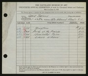 Entry card for Semon, Carle Edwin for the 1938 May Show.