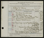 Entry card for Shaw, Elsa Vick, and McMullen, Helen for the 1938 May Show.