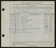 Entry card for Stillwell, William D. for the 1938 May Show.