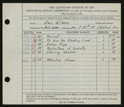 Entry card for Wilson, Don for the 1938 May Show.