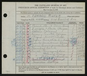 Entry card for Winter, H. Edward for the 1938 May Show.