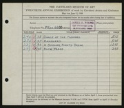 Entry card for Young, James H. for the 1938 May Show.