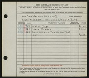 Entry card for Barkley, Maie Watkins for the 1939 May Show.