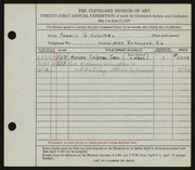Entry card for Collura, Francis G. for the 1939 May Show.