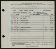 Entry card for Curtis, Floyd Edward for the 1939 May Show.
