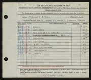 Entry card for Eppink, Norman Roland for the 1939 May Show.