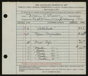 Entry card for Grauer, Natalie Eynon for the 1939 May Show.