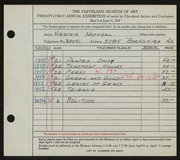 Entry card for Nepodal, Virginia for the 1939 May Show.