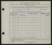 Entry card for Wood, Kenneth A. for the 1939 May Show.