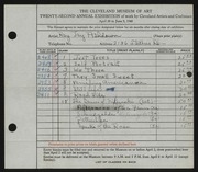 Entry card for Ashdown, Ray Jay for the 1940 May Show.