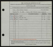 Entry card for Burgess, Mary Cummings for the 1940 May Show.