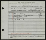 Entry card for Edwards, R. S. for the 1940 May Show.