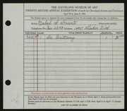 Entry card for Grant, Mabel S. for the 1940 May Show.