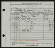 Entry card for Grauer, Natalie Eynon for the 1940 May Show.