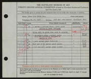 Entry card for Rose Iron Works, Inc., and Rose, Melvin for the 1940 May Show.