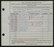 Entry card for Russell, Frederick K. for the 1940 May Show.