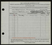 Entry card for Schoenberger, Edward William for the 1940 May Show.