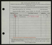 Entry card for Wood, Kenneth A. for the 1940 May Show.