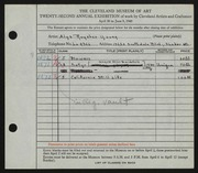 Entry card for Young, Alys Roysher for the 1940 May Show.