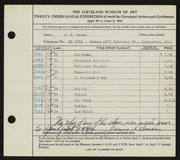 Entry card for Bruce, Jim for the 1941 May Show.