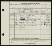 Entry card for Dobrotka, Edward W. for the 1941 May Show.