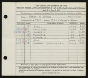Entry card for Hetman, Harry H. for the 1941 May Show.