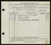 Entry card for Hulsinger, George E. for the 1941 May Show.