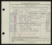 Entry card for Ingalls, Eileen B. for the 1941 May Show.