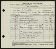 Entry card for Stanford, Zell C. for the 1941 May Show.